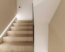 Projekt wnętrza domu w ciepłych barwach - Schody, styl nowoczesny - zdjęcie od DEZEEN ARCHITEKCI Natalia Pęcka - Homebook