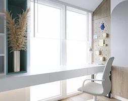 Dom szeregowy z połączeniem eleganckiego, ciemnego drewna i głębokiej zieleni - Pokój dziecka, styl ... - zdjęcie od DEZEEN ARCHITEKCI Natalia Pęcka - Homebook