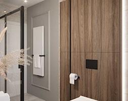 Projekt wnętrza domu w ciepłych barwach - Łazienka, styl nowoczesny - zdjęcie od DEZEEN ARCHITEKCI Natalia Pęcka - Homebook