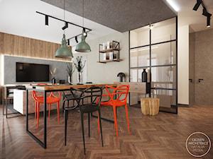 Industrialne mieszkanie z betonowymi akcentami