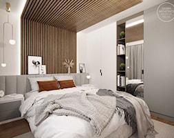 Projekt wnętrza domu w ciepłych barwach - Sypialnia, styl nowoczesny - zdjęcie od DEZEEN ARCHITEKCI Natalia Pęcka - Homebook