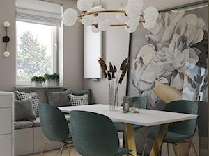 Mieszkanie w stylu nowojorskim ze złotymi dodatkami