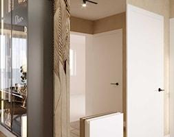 Projekt wnętrza domu w ciepłych barwach - Hol / przedpokój, styl nowoczesny - zdjęcie od DEZEEN ARCHITEKCI Natalia Pęcka - Homebook