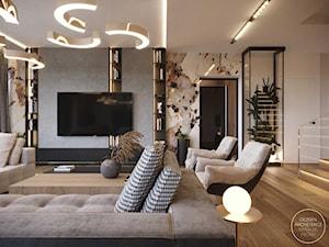 Przestronne wnętrze domu w nowoczesnym wydaniu