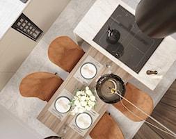 Projekt wnętrza domu w ciepłych barwach - Kuchnia, styl nowoczesny - zdjęcie od DEZEEN ARCHITEKCI Natalia Pęcka - Homebook