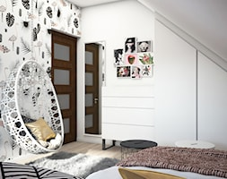 Pokój nastolatki - Średni biały pokój dziecka dla dziewczynki dla nastolatka, styl nowoczesny - zdjęcie od DEZEEN ARCHITEKCI Natalia Pęcka