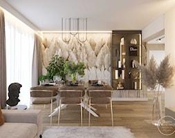 Projekt wnętrza domu w ciepłych barwach - Jadalnia, styl nowoczesny - zdjęcie od DEZEEN ARCHITEKCI Natalia Pęcka - Homebook