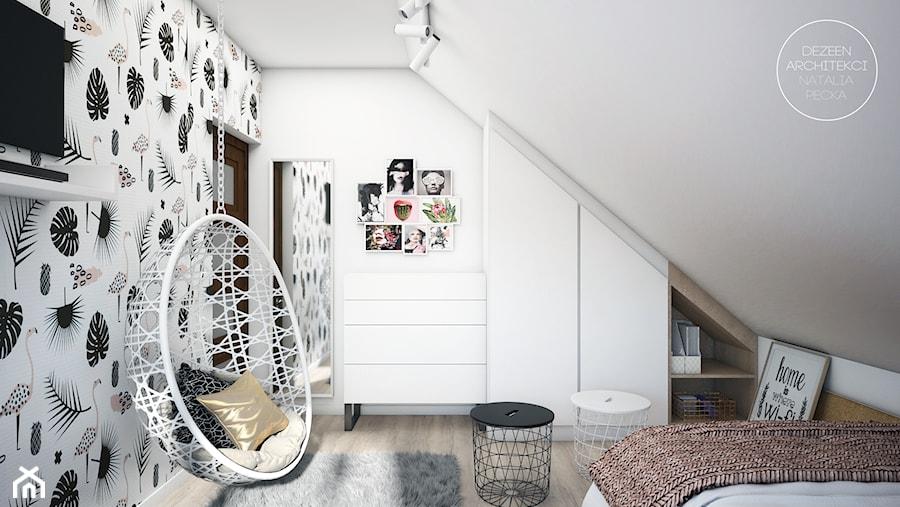 Pokój nastolatki - Mały biały pokój dziecka dla dziewczynki dla nastolatka, styl nowoczesny - zdjęcie od DEZEEN ARCHITEKCI Natalia Pęcka
