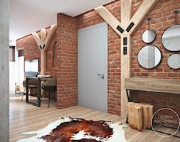 Mieszkanie w stylu industrialnym - Średni brązowy hol / przedpokój, styl industrialny - zdjęcie od DEZEEN ARCHITEKCI Natalia Pęcka