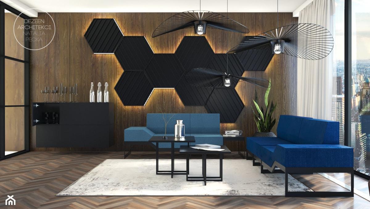 Biuro w nowoczesnym stylu - Duże biuro w pokoju, styl nowoczesny - zdjęcie od DEZEEN ARCHITEKCI Natalia Pęcka - Homebook