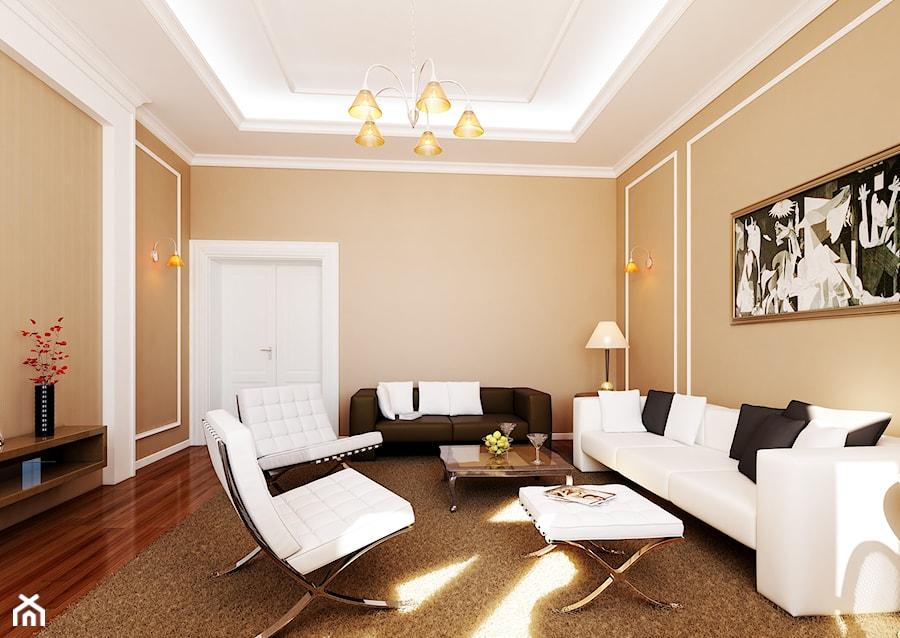 Straszewskiego - Średni beżowy salon, styl klasyczny - zdjęcie od kaim.work