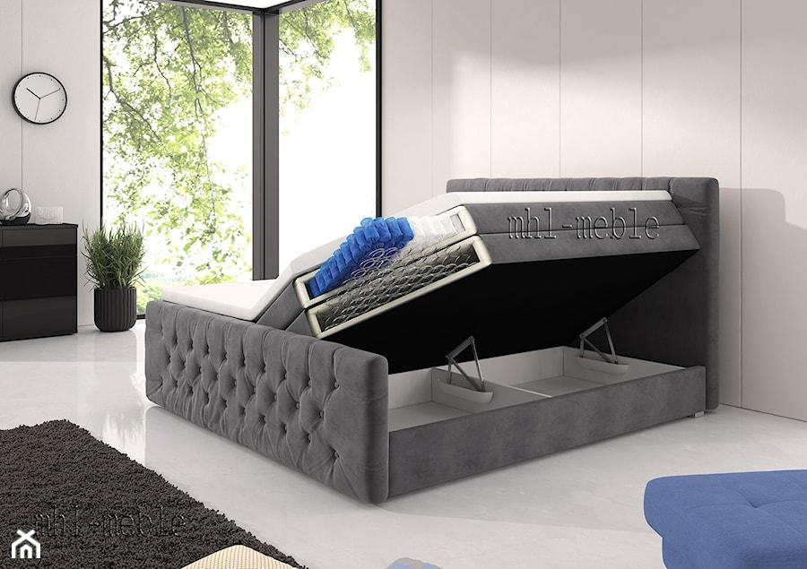 Przekrój łóżka Kontynentalnego Z Pojemnikami Na Pościel