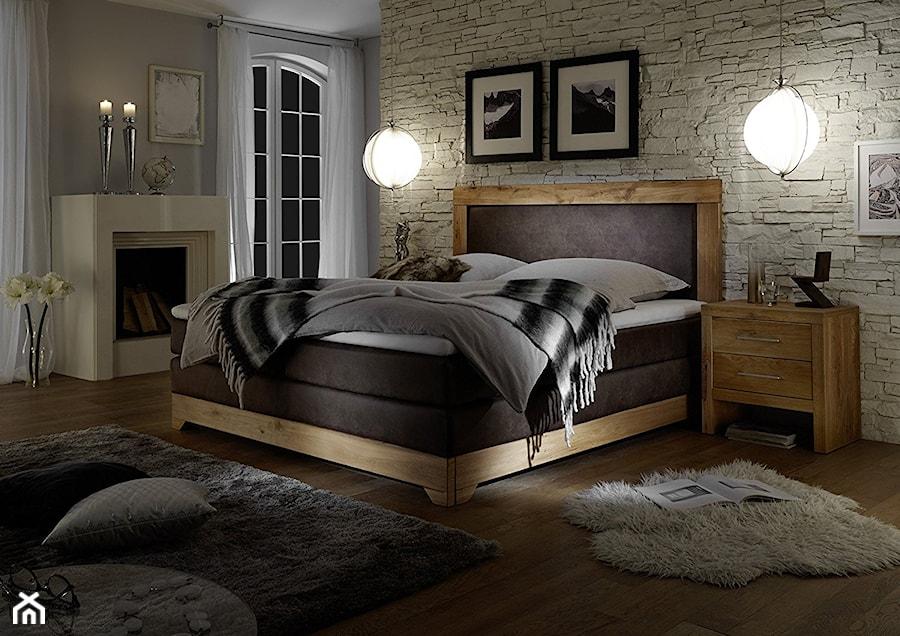Dębowe łóżko Kontynentalne Zdjęcie Od Mhl Meble Homebook