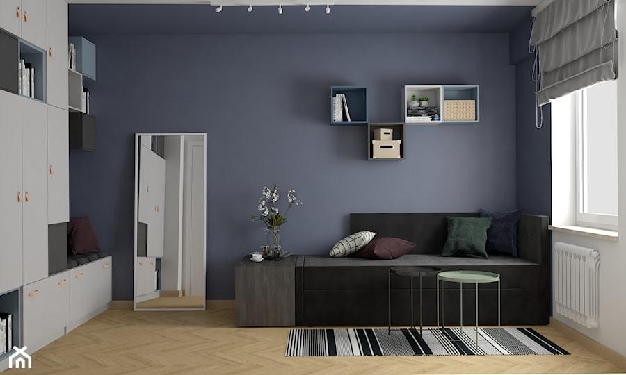 Mieszkanie na wynajem w Krakowie - inwestycja Pianissimo - Średnia biała szara sypialnia dla gości, styl nowoczesny - zdjęcie od VINSO Projektowanie Wnętrz