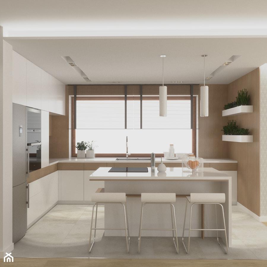 Projekt Domu W Skawinie średnia Otwarta Kuchnia W