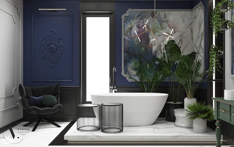 Elegancka łazienka w stylu art deco - Łazienka, styl art deco - zdjęcie od VINSO Projektowanie Wnętrz