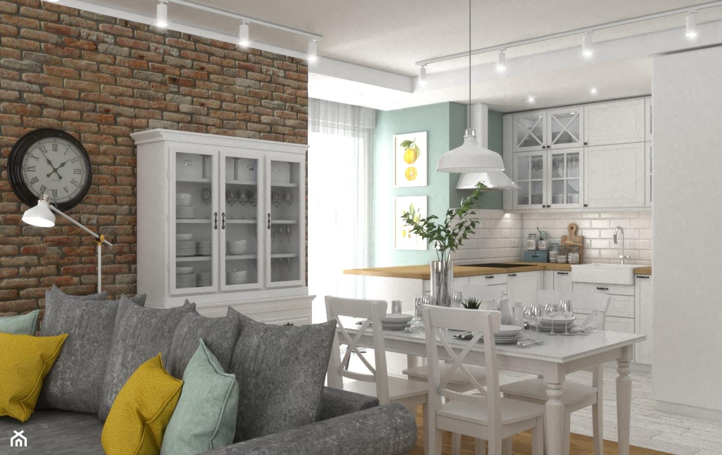 Dom w Krakowie 2 - Salon, styl rustykalny - zdjęcie od VINSO Projektowanie Wnętrz - Homebook