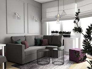 Kobiece mieszkanie z fioletowym akcentem