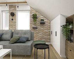 Skandynawski salon wypoczynkowy na poddaszu - Salon, styl skandynawski - zdjęcie od VINSO Projektowanie Wnętrz - Homebook