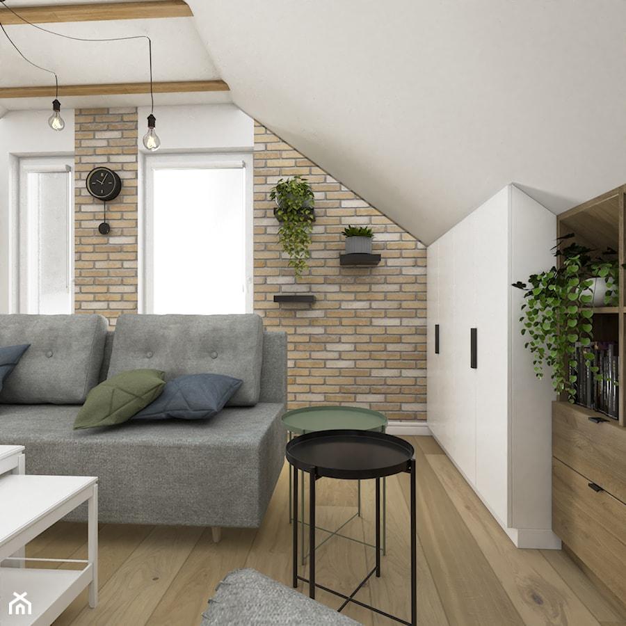 Skandynawski salon wypoczynkowy na poddaszu - Salon, styl skandynawski - zdjęcie od VINSO Projektowanie Wnętrz