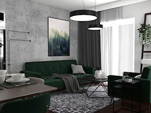 Butelkowa zieleń w salonie