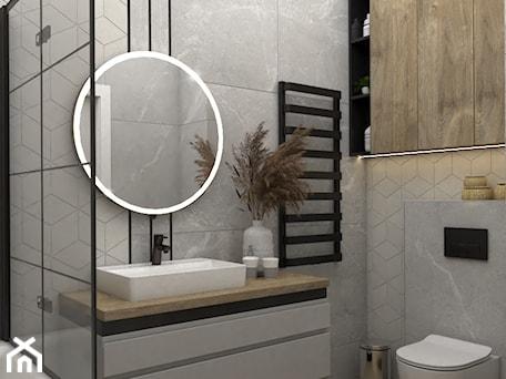 Aranżacje wnętrz - Łazienka: Skandynawska łazienka z czarnymi dodatkami - Łazienka, styl skandynawski - VINSO Projektowanie Wnętrz. Przeglądaj, dodawaj i zapisuj najlepsze zdjęcia, pomysły i inspiracje designerskie. W bazie mamy już prawie milion fotografii!
