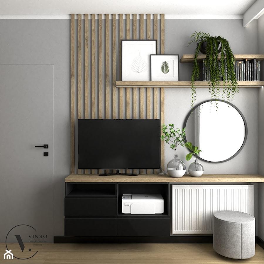 Nowoczesna sypialnia w szarościach - Sypialnia, styl nowoczesny - zdjęcie od VINSO Projektowanie Wnętrz