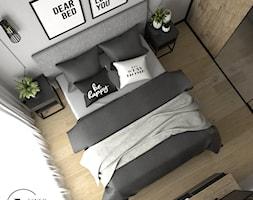 Nowoczesna sypialnia w szarościach - Sypialnia, styl nowoczesny - zdjęcie od VINSO Projektowanie Wnętrz - Homebook