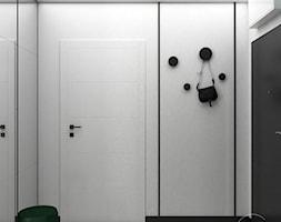 Przedpokój w kolorach butelkowej zieleni - Hol / przedpokój, styl nowoczesny - zdjęcie od VINSO Projektowanie Wnętrz - Homebook