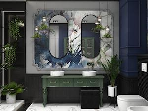 Elegancka łazienka w stylu art deco