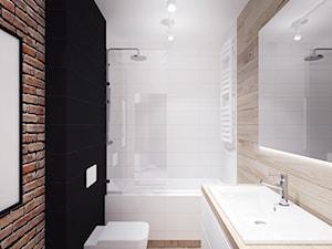 Jesionowa- Gdańsk Wrzeszcz - Średnia łazienka w bloku w domu jednorodzinnym bez okna, styl industrialny - zdjęcie od Szlachta Pracownia Projektowa