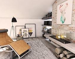 Salon styl Industrialny - zdjęcie od Pracownia Projektowa MONO