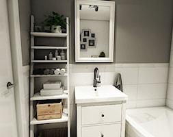 Aranżacja mieszkania, Gdańsk - Łostowice - Mała łazienka w bloku bez okna, styl vintage - zdjęcie od Pracownia Projektowa MONO