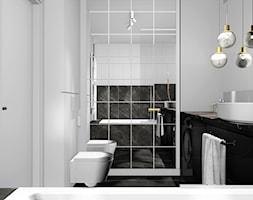 MIESZKANIE W KRAKOWIE_49m2 - Średnia biała łazienka w bloku w domu jednorodzinnym bez okna, styl nowoczesny - zdjęcie od 91m2 Architektura Wnętrz