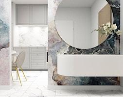 OSIEDLE JURAJSKIE_43m2 - Mały szary hol / przedpokój, styl nowoczesny - zdjęcie od 91m2 Architektura Wnętrz