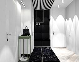 MIESZKANIE W KRAKOWIE_68m2 - Średni biały szary hol / przedpokój, styl minimalistyczny - zdjęcie od 91m2 Architektura Wnętrz