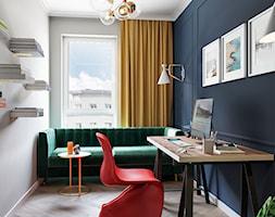 Odważne kolory w pracy - Biuro, styl nowoczesny - zdjęcie od Monika Idzikowska Wnętrza - Homebook
