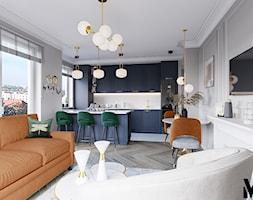 Kolor we wnętrzu - Salon, styl nowojorski - zdjęcie od Monika Idzikowska Wnętrza - Homebook