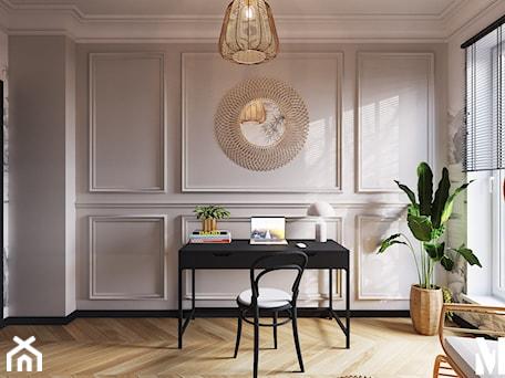 Aranżacje wnętrz - Biuro: Klimatyczne biuro - Biuro, styl klasyczny - Monika Idzikowska Wnętrza. Przeglądaj, dodawaj i zapisuj najlepsze zdjęcia, pomysły i inspiracje designerskie. W bazie mamy już prawie milion fotografii!
