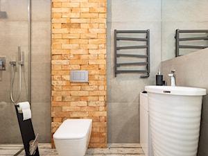 Realizacja wnętrz domu w Paniówkach - Średnia łazienka w bloku w domu jednorodzinnym bez okna - zdjęcie od Wawoczny Architekt