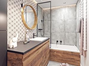 Łazienka z ukrytą pralką - zdjęcie od Alicja Szmal Studio