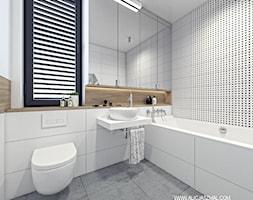 Łazienka z dużym lustrem - zdjęcie od Alicja Szmal Studio