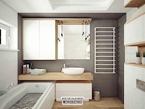 Białystok | Nadawki | Projekt łazienki w stylu nowoczesnym