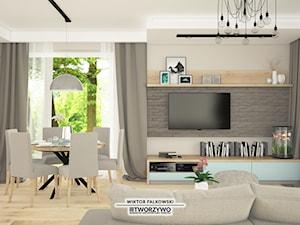 Łapy-Dębowina | Salon w stylu nowoczesnym