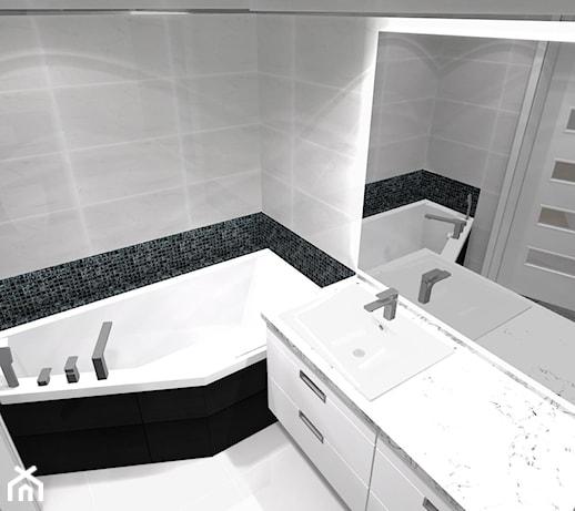 Dwupoziomowe Na Merkurego Mała Szara łazienka Na Poddaszu