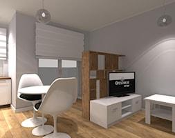 Kompaktowe 2 pokoje - Szary salon z jadalnią - zdjęcie od OPEN HOUSE INVEST