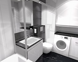 3 pokoje dla rodziny - Średnia biała łazienka w bloku w domu jednorodzinnym bez okna - zdjęcie od OPEN HOUSE INVEST