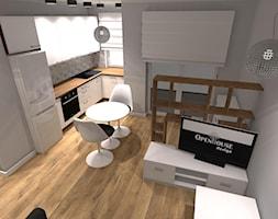 Kompaktowe 2 pokoje - Mały szary salon z kuchnią z jadalnią - zdjęcie od OPEN HOUSE INVEST