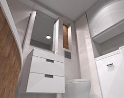 3 pokoje dla rodziny - Mała szara łazienka w bloku w domu jednorodzinnym bez okna - zdjęcie od OPEN HOUSE INVEST