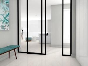 Średni biały szary hol / przedpokój, styl nowoczesny - zdjęcie od ONE HOME Studio Architektury Wnętrz